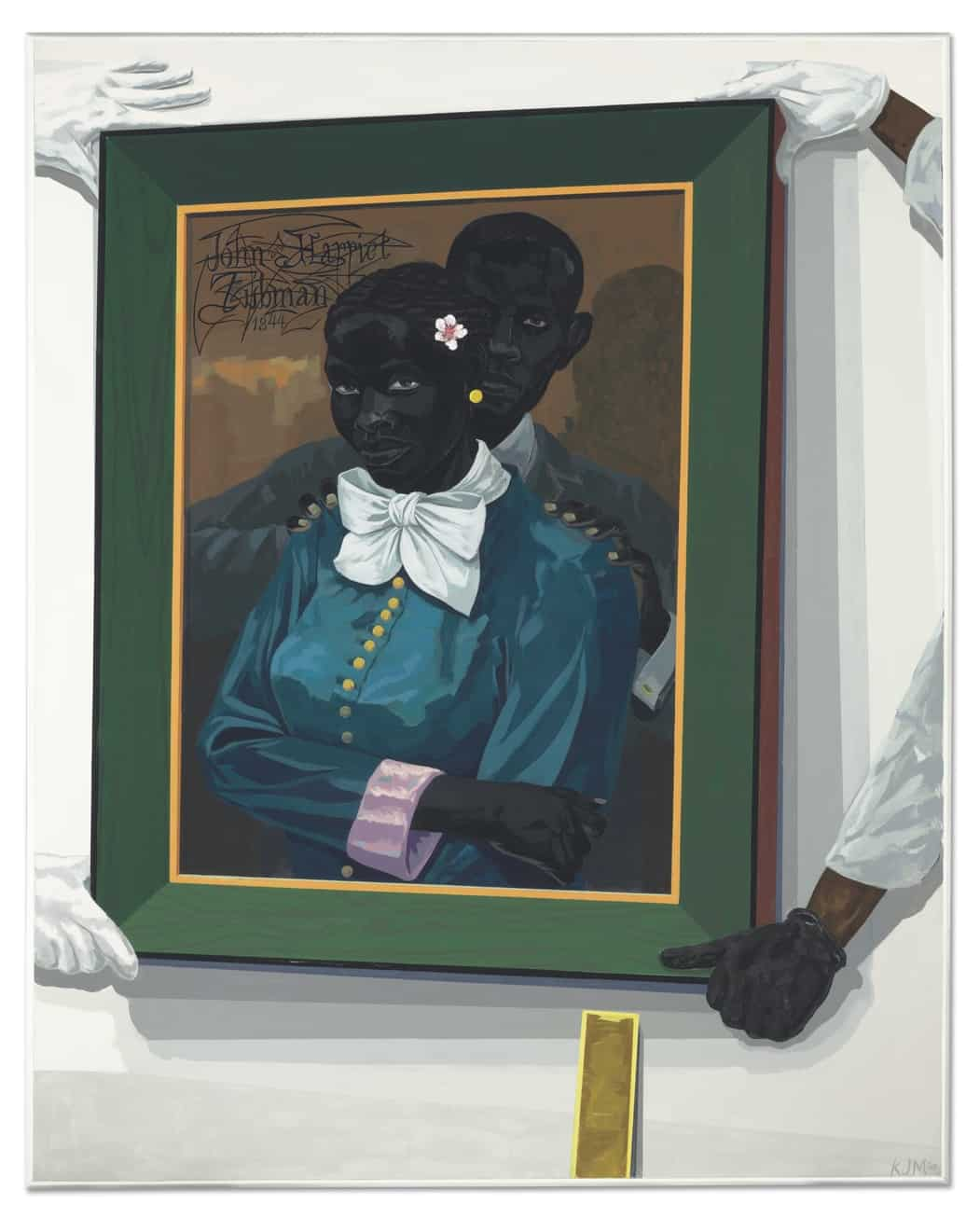 "KERRY JAMES MARSHALL, ""Still Life with Wedding Portrait,"" 2015 (acrylic on PVC panel)"