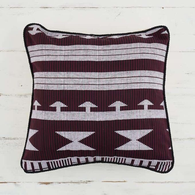 Pillow Cover Woven Kente - Maroon
