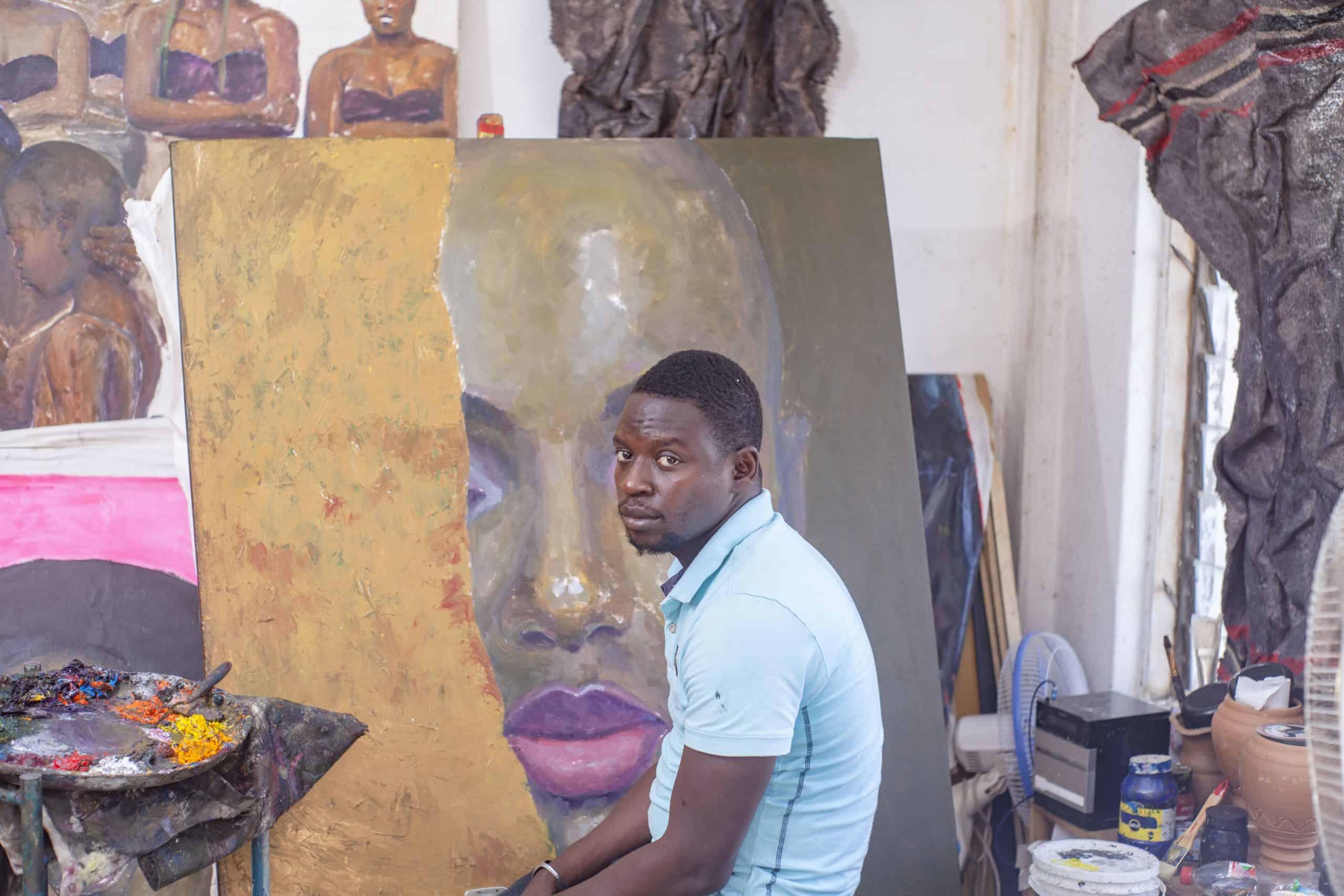 Oluwole Omofemi in Studio MoMAA