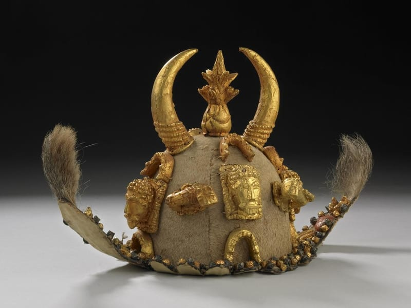 Asante Ceremonial helmet, MoMAA