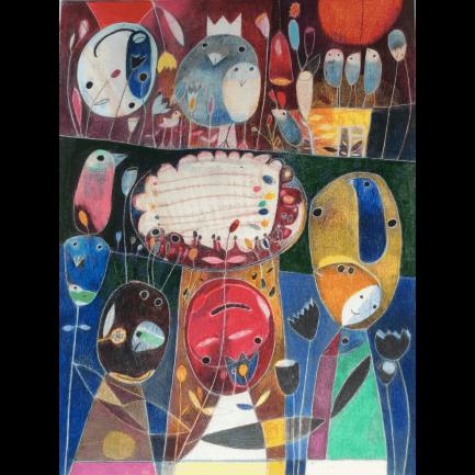 Kaaml – Untitled 4 (2020) african painting MoMAA