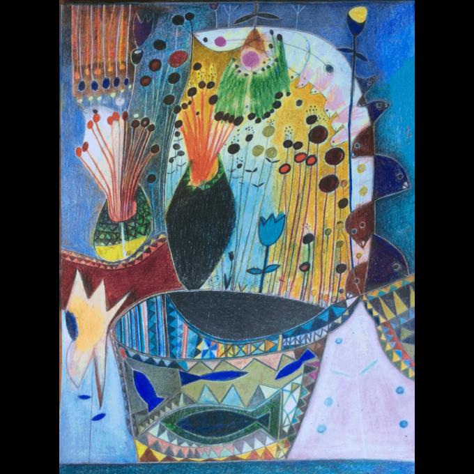 Kamel Berkouk U ntitle ii Momaa african modern painting