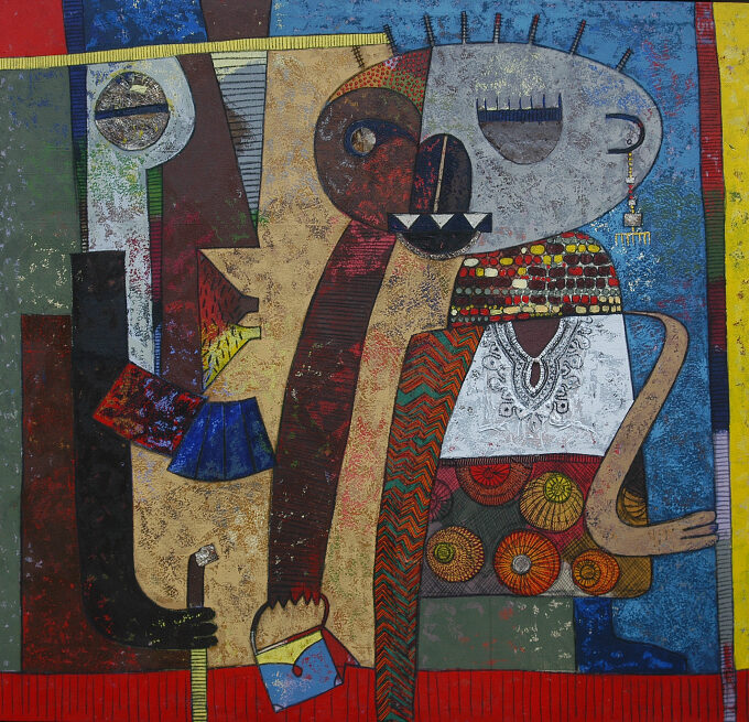 Chilyapo Lwando -Perfect Couple II African contemporary Artist MoMAA
