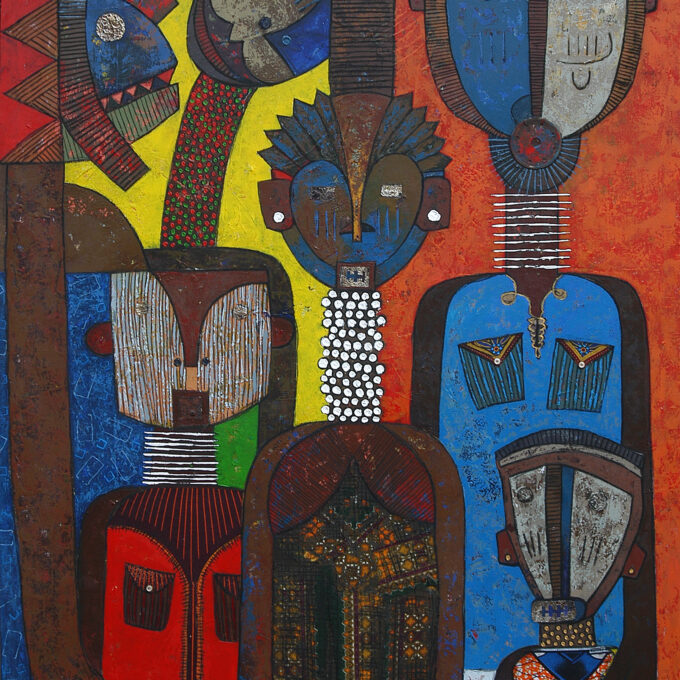Chilyapo Lwando - Family II African contemporary Artist MoMAA
