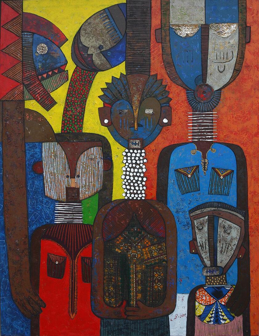 Chilyapo Lwando - Family II African contemporary Artist MoMAA