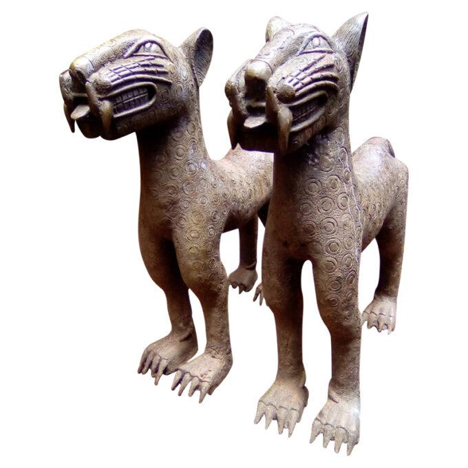 Benin African Leopard Bronze