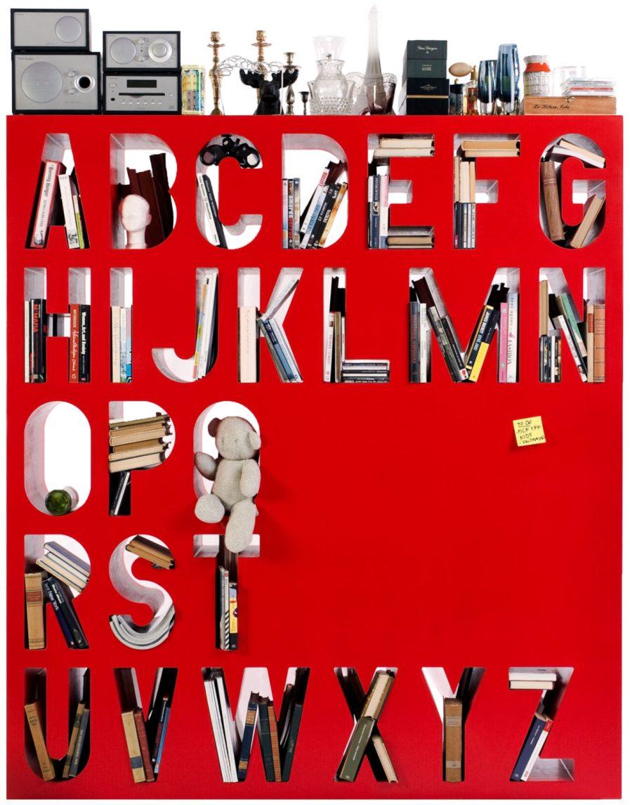 Alphabet Shelf Room Divider Aakkoset